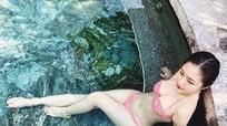 Bikini tiết lộ vóc dáng của Hương Tràm