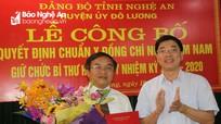 Công bố quyết định chuẩn y Bí thư Huyện ủy Đô Lương