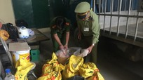 Nghệ An: Tiêu hủy gần 200 kg gà và chân gà rút xương không rõ nguồn gốc